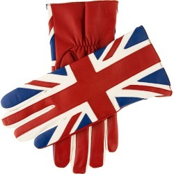 Dents Men's Leather Union Jack Gloves In Red/multi Size S found on Bargain Bro UK from Dents