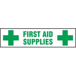 First Aid Supplies Self-Adhesive Cabinet Label