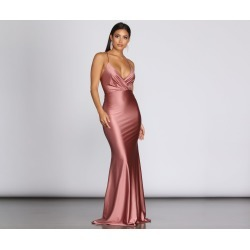Jerry Cross Back Draped Gown