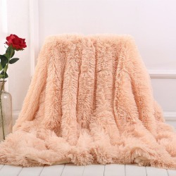 Costbuys  Fuzzy Blanket For Bed Sofa Cover Bedspread Long Shaggy Super Soft Warm Bedding Sheet Air Conditioning Throw - Milk Pin found on Bargain Bro India from cost buys for $197.99