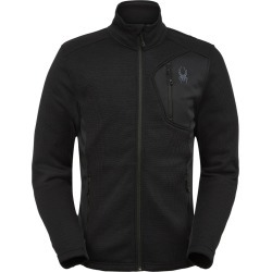 Spyder Men's Bandit Fleece Jacket Size Small in Black Black