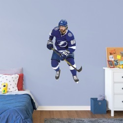 """Nikita Kucherov for Tampa Bay Lightning - Officially Licensed NHL Removable Wall Decal Giant Athlete + 2 Decals (28""""W x 51""""H) by"""