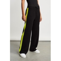 Chinti And Parker Soft Stripe Wide Leg Pants in Cream/Black/Lime Bandier found on MODAPINS from bandier for USD $309.00