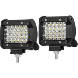 4 Inch Spot LED Work Light Bar Philips Quad Row (2 Pcs)