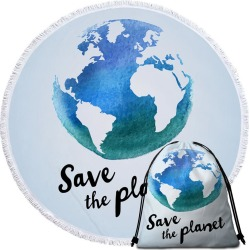 Save the Planet Beach Towel found on Bargain Bro India from Simply Wholesale for $14.16