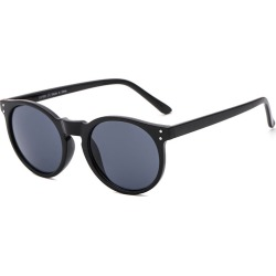 Costbuys  Round Sunglasses Retro Women Ladies Vintage Sunglasses Male Fashion for Travel Brand Designer JH9003 - Black