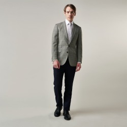 Beige Wool Prince-of-Wales Check Jacket - 38 found on Bargain Bro UK from Turnbull & Asser