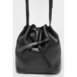 Tassel Drawstring Black Cross Body Bag