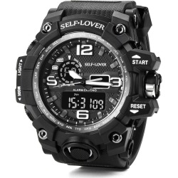 Costbuys  Watch Men's Sport Watch Dual Display Analog Digital LED Electronic Wrist Watches Gift Fast Send - A found on MODAPINS from cost buys for USD $61.10