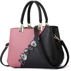 Costbuys  Flower Pu Handbags Shoulder Bags Women Crossbody Messenger Bag Casual Tote Cluth Fashion Evening Purse For Ladies New