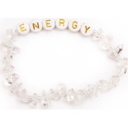 TBalance Energy Gold - Clear Quartz Crystal Healing Bracelet - One Size found on Bargain Bro UK from Oxygen Boutique
