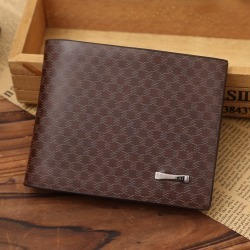 Costbuys  Luxury Fashion Style PU Leather Wallet Top Quality Brown Wallets Male Purse Credit Card Holders Designer Purse Cuzdan