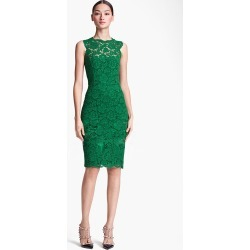 Costbuys  Dress Summer Style Slim Fit Elegant Women Flower Lace Bow Fashion Dress For Ladies S-XXL - Green / L