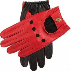 Dents Men's Two Colour Leather Driving Gloves In Berry/black Size M found on Bargain Bro UK from Dents