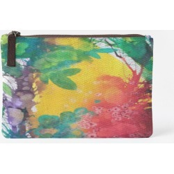 Carry-All Pouch - Carry All Blossoming 57-1 in Brown/Green/Red by VIDA Original Artist
