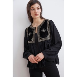 Nixi Embellished Drape Jacket (XS), Velvet by Graham & Spencer