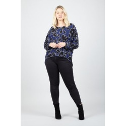 Curve Floral Jersey Top found on Bargain Bro UK from Izabel London UK