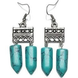 Lazurah Blanco Earrings - Turquoise found on Bargain Bro from Simply Wholesale for USD $11.73