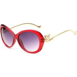 Costbuys  Fashion Women Oval Sunglasses Sun glasses Men Vintage Retro Female Male Glasses Full Frame UV400 oculos - Wine red