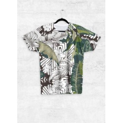 Unisex Tee - Front Print - Dark Abstract Jungle by Always Seek Original Artist