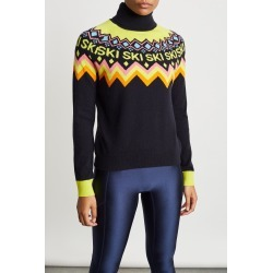 Chinti And Parker Ski Yoke Sweater in Navy Bandier found on MODAPINS from bandier for USD $439.00