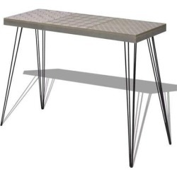 Console Table 90 x 30 x 71.5 Cm Grey