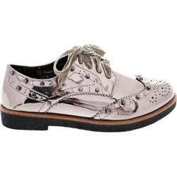 Velvet Laces Silver Studded Brogues