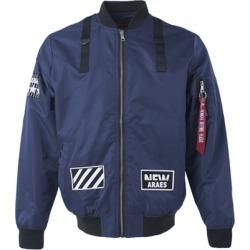 Costbuys  Windbreaker outdoor waterproof rain jacket women coat clothes spring baseball men american football - Blue / M