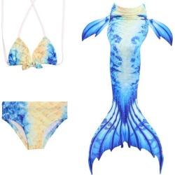 Costbuys  Children Mermaid Tail Monofin Mermaid Costume Bathing Suit Bikini Set Swimming Children Girls Children Mermaid Tails C