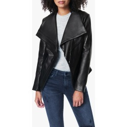Joe's Jeans The Wing Collar Leather Jacket in Black | Size XS