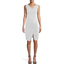Nicole Miller Stretch Linen Empire Double Strap Tuck Dress In White | Polyester/Spandex/Viscose | Size 0 found on MODAPINS from Nicole Miller for USD $340.00