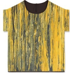 Modern Tee - Yellow Marble in Brown/Green/Orange by VIDA Original Artist found on Bargain Bro India from SHOPVIDA for $75.00
