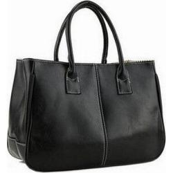 Costbuys  Hot Sale Women Bag Fashion PU Leather Women's Handbags Top-Handle Bags Tote Women Shoulder Messenger Bag   LL423 - Bla