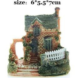 Costbuys  Artificial Mini Micro House Resin Crafts Fairy Garden Decoration Home Garden Decoration Accessories - 03 / 6x5x7cm