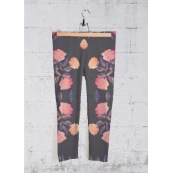 Yoga Capri Pants - Pink Roses in Pink/Red by Haris Kavalla Original Artist found on Bargain Bro India from SHOPVIDA for $70.00