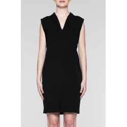 Ming Wang V-Neck Shift Dress - Black / XS - Fall 2018 Collection found on Bargain Bro Philippines from Ming Wang Knits for $230.00