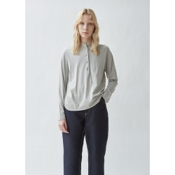 Aspesi Jersey Henley Tee Grey Size: Small found on MODAPINS from la garconne for USD $278.00