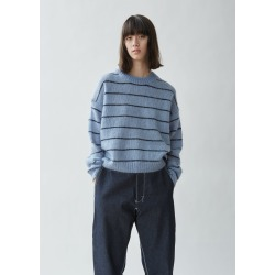 Acne Studios Kassidy Striped Sweater Denim Blue / Navy Size: Medium found on MODAPINS from la garconne for USD $360.00