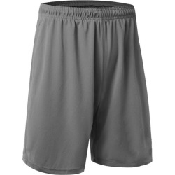 Costbuys  US Men Mesh Quick-Dry Shorts 2 Pockets workout pants Soft Basketball Gym Fitness - Gray / M