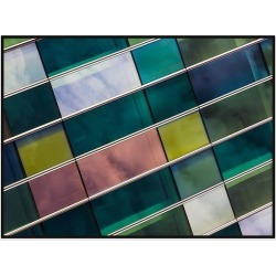 Play Of Colours Photograhic Canvas Print With Floating Frame