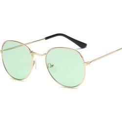 Costbuys  Sunglasses Women Round Summer Classic Sunglases Metal Frame Trends Fashion Glasses women's sunglass 90s glass - C03