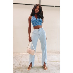 Lioness Cobain Slit Jeans Light Wash found on MODAPINS from beginning boutique for USD $68.65