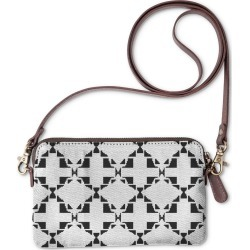 Statement Clutch - Ethno Design Bw Blocks in White by VIDA Original Artist
