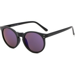 Costbuys  Round Sunglasses Retro Women Ladies Vintage Sunglasses Male Fashion for Travel Brand Designer JH9003 - Blue Mirror