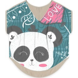 Women's V-Neck Top - Love Panda in Pink/White by Haris Kavalla Original Artist found on Bargain Bro India from SHOPVIDA for $90.00