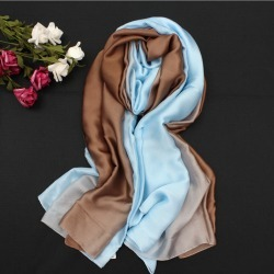 Costbuys  Solid Gradient Rayon Silk Square Spring Winter Scarf Shawl Women Shawl Long Female Scarves Bandana - 10 found on Bargain Bro India from cost buys for $78.60