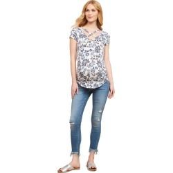 Jessica Simpson Under Belly Skinny Leg Maternity Crop Jeans found on Bargain Bro Philippines from motherhood for $39.97