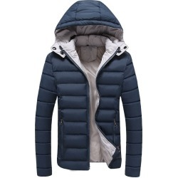 Costbuys  Winter Parkas Men's Coats Mens Casual Jackets Male Overcoat Mens Clothing Warm Thick Hooded Padded 5XL - Green / M