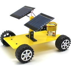 Costbuys  Dual Solar Panel DIY Mini Solar Powered Toy Car Assembly Science Materials Kits Vehicle Model Boy Gift Educational Rob