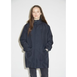 Woolrich Water Repellant Stand Up Collar Coat Navy Melton Size: Medium